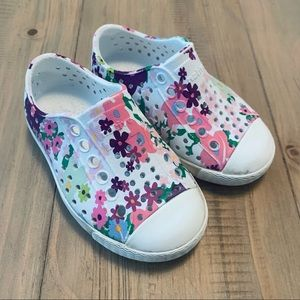 Native | White Floral Jefferson Slip On Shoes